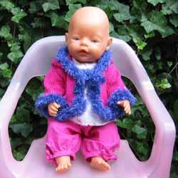 Breipatroon Jasje Babyborn