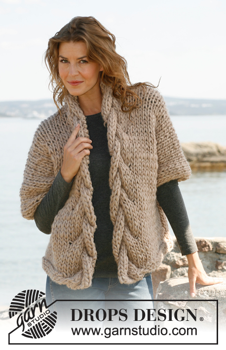 Knitting Patterns For Winter Jackets : Breipatroon Wijd vest