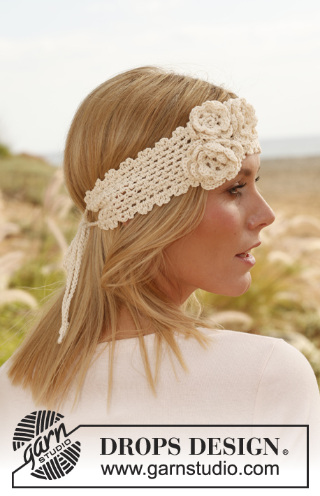 Free Crochet Patterns For Summer Headbands : Haakpatroon Gehaakte hoofdband