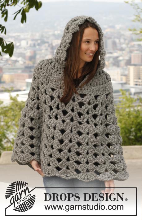 Free Crochet Poncho Patterns Australia : Haakpatroon poncho met capuchon