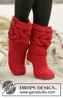 Breipatroon pantoffels van eskimo